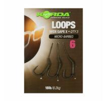Korda Loop Rigs Wide Gape-X 18lb 3 db 4