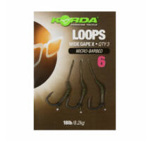 Korda Loop Rigs Wide Gape-X 18lb 3 db 6