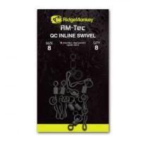 RidgeMonkey Rm-Tec Quick Change Inline Swivel gyorskapocs