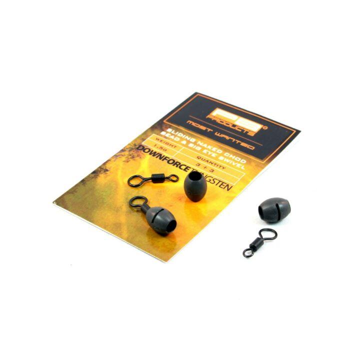 Pb Products DT Sliding Naked Chod Bead & Ring Swivel szett