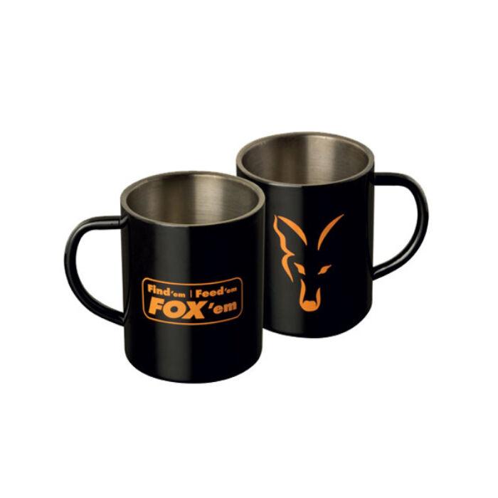 Fox Stainless Steel Mug rozsdamentes bögre