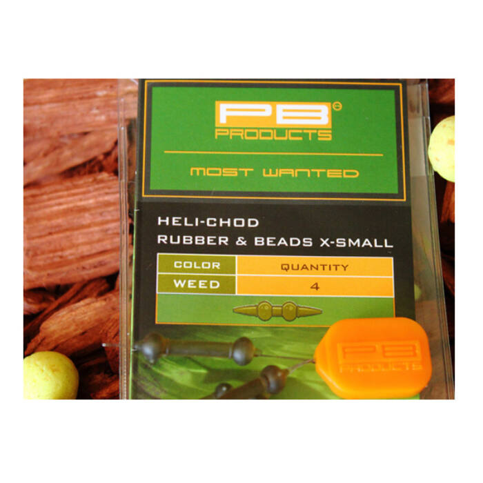 PB Products Heli Chod Rubber & Beads X-Small