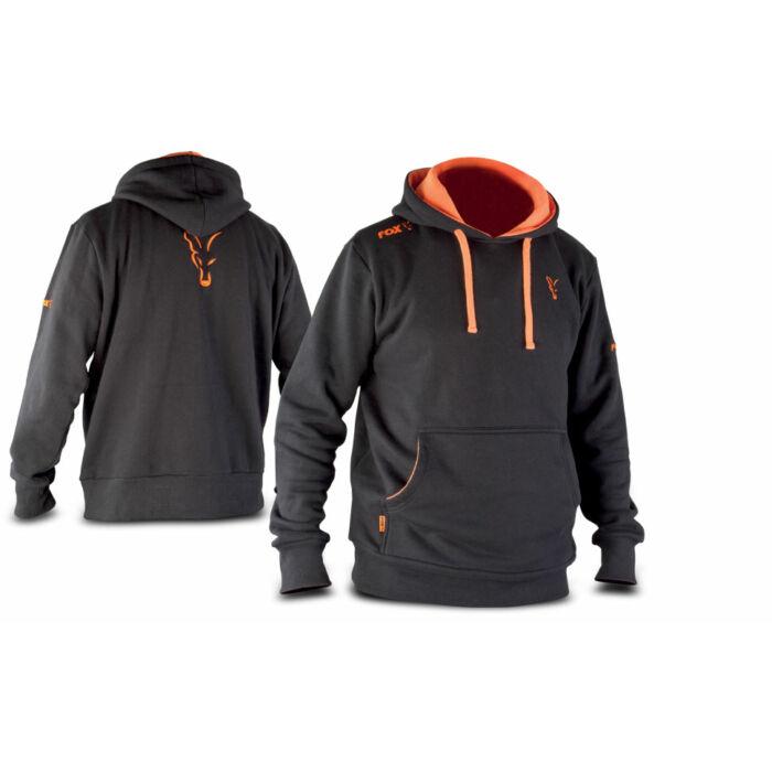 Fox Black & Orange Hoodie kapucnis felső