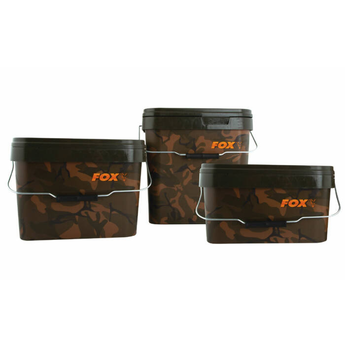 Fox Camo Square Bucket terepmintás vödör