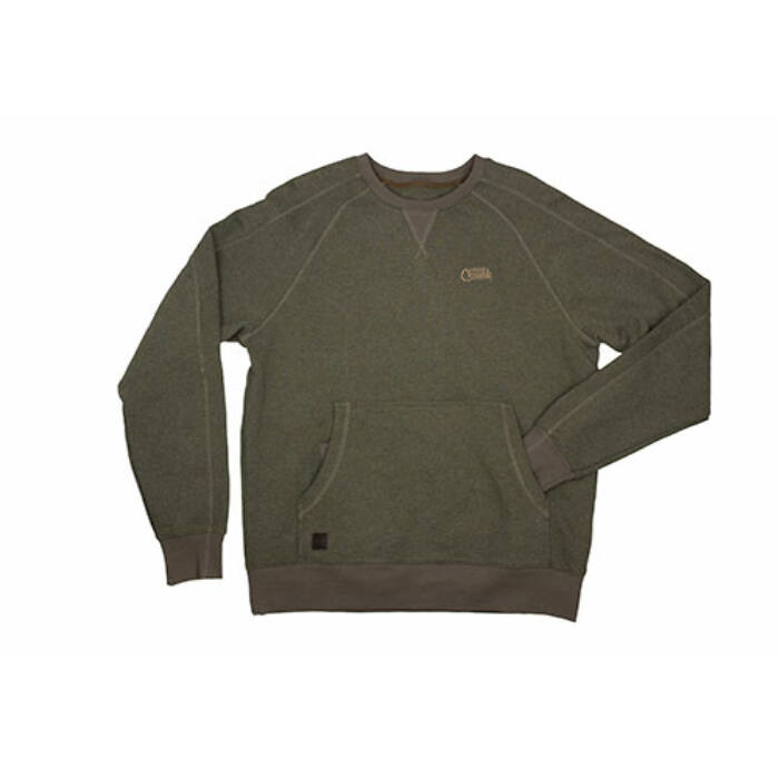 Fox Chunk Crew Pouch Sweatshirt pullover