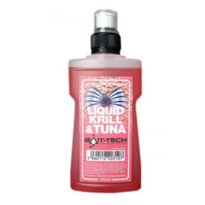 Bait Tech Krill & Tuna Liquid rák-tonhal locsoló