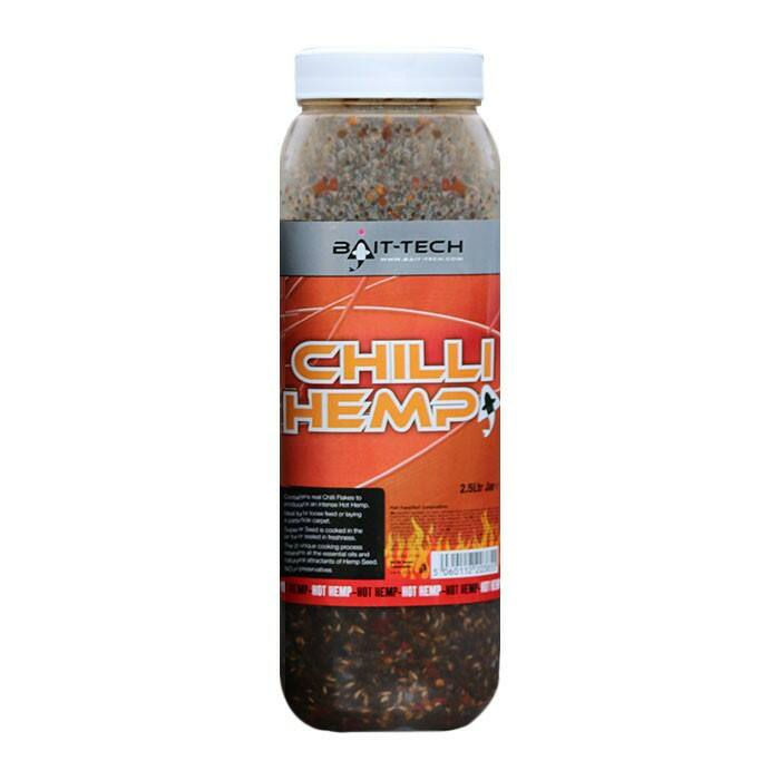 Bait Tech Chilli Hemp Jar chilis főtt kender 2,5l