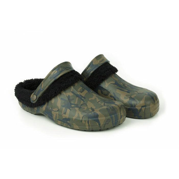 Fox Chunk Camo Fleece Clogs bélelt papucs