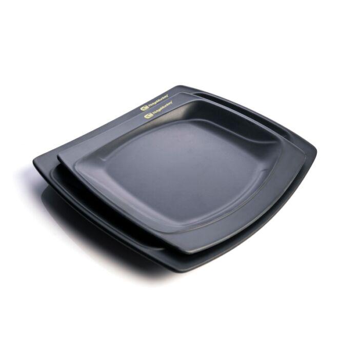 RidgeMonkey SQ DLX Melamine Plate Pack tányérszett