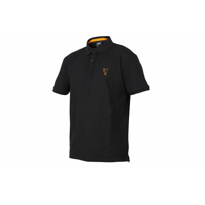 Fox Collection Black & Orange Polo Shirt galléros póló