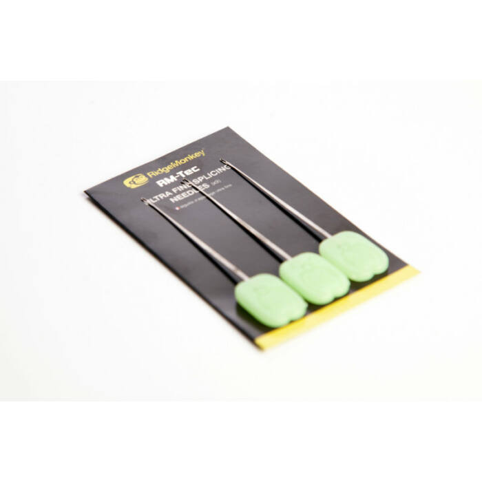 RidgeMonkey RM-Tec Ultra Fine Splicing Needles leadcore fűzőtű 3 db