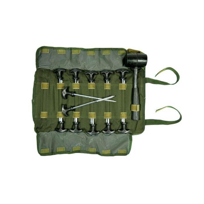 Carp Spirit Bivvy Pegs+Hammer Set sátorvas kalapács szett