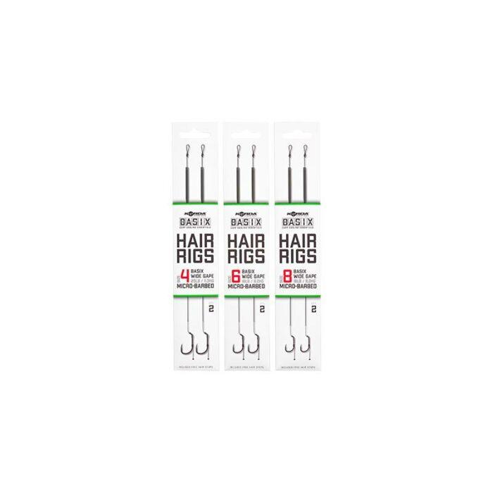 Korda Basix Hair Rigs kész szerelék 2db
