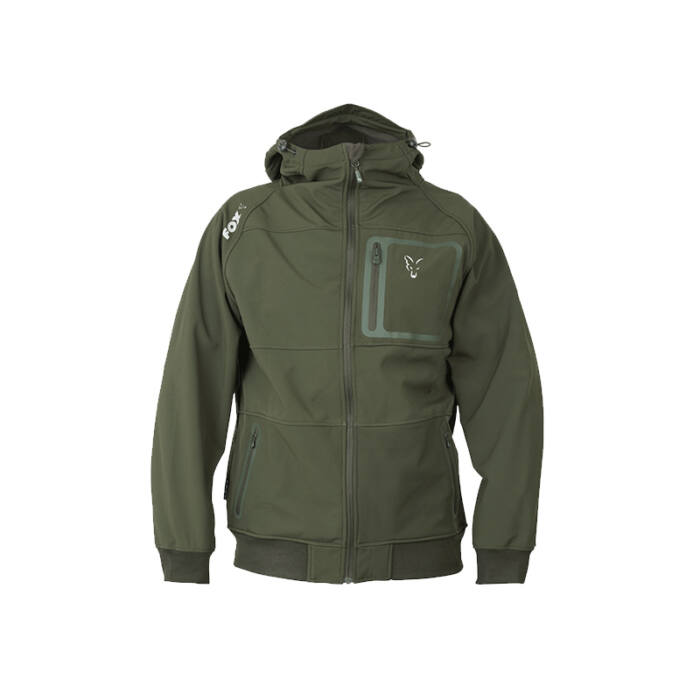 Fox Collection Green & Silver Shell Hoodie kabát