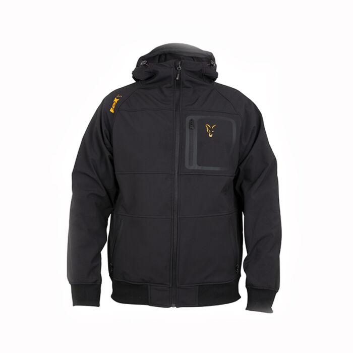 Fox Collection Black & Orange Shell Hoodie kabát