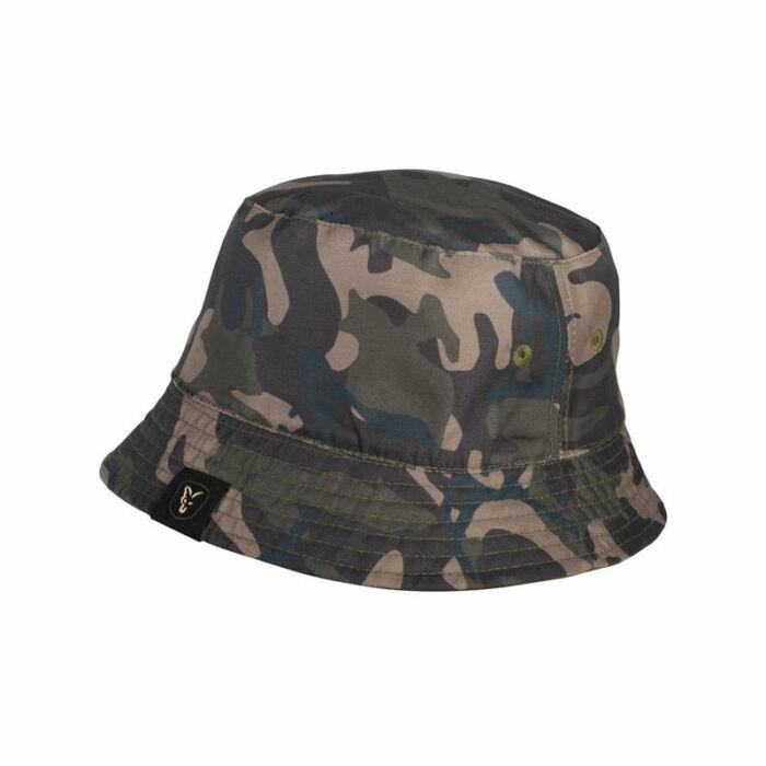 Fox Khaki Camo Reversible Bucket Hat kifordítható horgász kalap